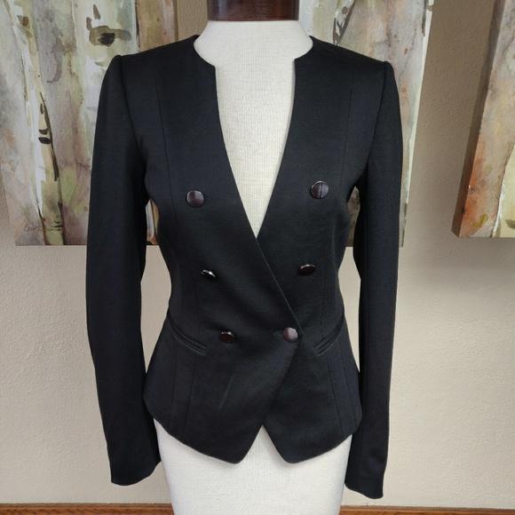 H&M Black, Soft, Blazer Top, Size 6